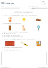 Light and shadows questions
