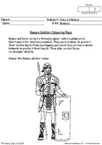 Roman Soldier colouring page