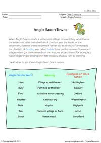 Anglo-Saxon Towns