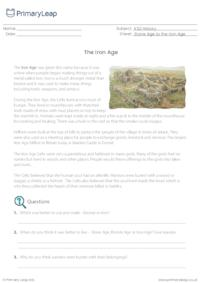 Reading comprehension - The Iron Age