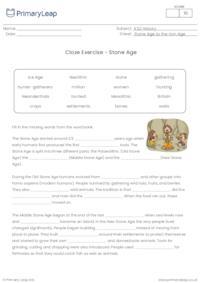 Cloze Exercise - The Stone Age