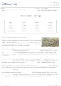 Cloze Exercise - The Iron Age