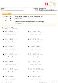 Multiplying using brackets