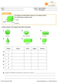 3-D shapes (intermediate)