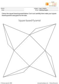 Making shapes - Square based pyramid