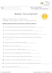 Weather - Fact or Opinion?