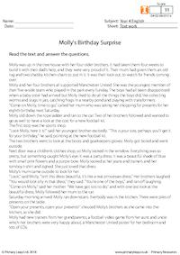 Molly's birthday surprise