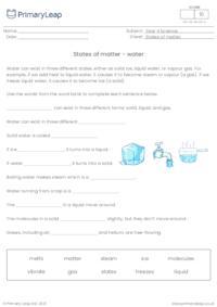 States of matter - water