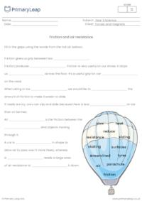 Friction and air resistance