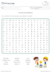 Circuits and conductors word search