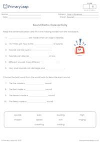 Sound facts cloze activity