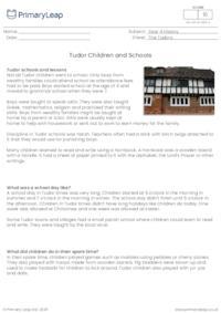 Tudor Children and Schools