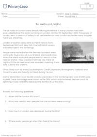 Air raids on London