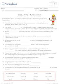 Cloze Activity - Tutankhamun