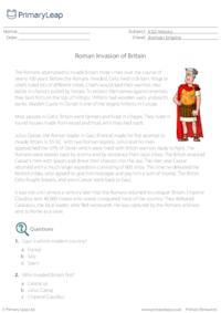 Roman Invasion of Britain - Comprehension