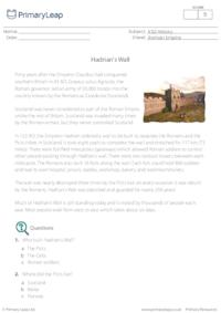 Hadrian's Wall - Reading comprehension