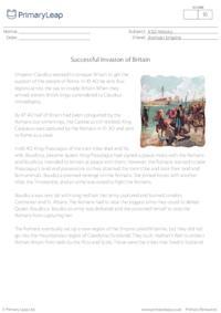 Reading comprehension - Successful Invasion of Britain