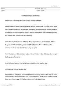 Text work - Easter Sunday (Easter Day)