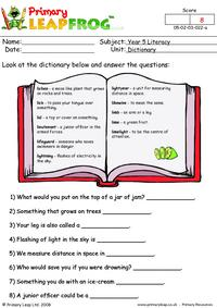 Dictionary work 2