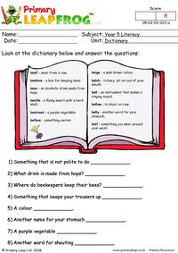 Dictionary work 3