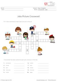 Jobs Picture Crossword