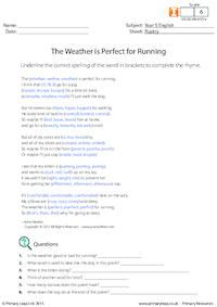 Poetry - The Weather is Perfect for Running