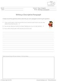 Writing a Descriptive Paragraph (4)
