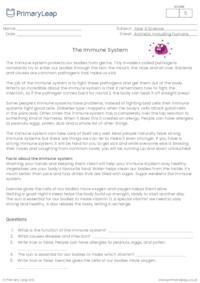 Reading comprehension - The immune system