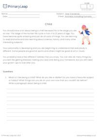 Human life cycle - Child