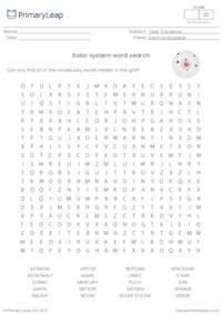 Solar System - Word Search