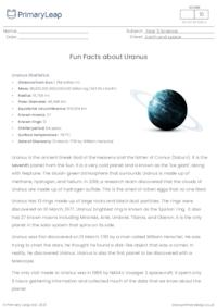 Fun Facts About Uranus