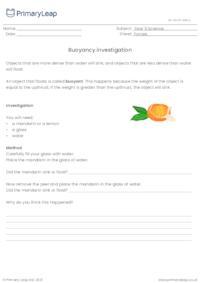 Buoyancy investigation
