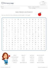 Sir Isaac Newton word search