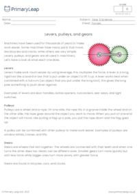 Levers, pulleys, and gears