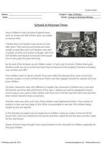 Schools in Victorian Times