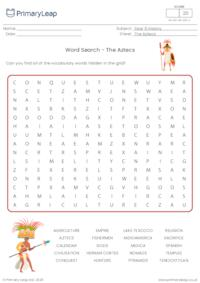 Word search - The Aztecs