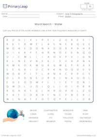 Word Search - Water