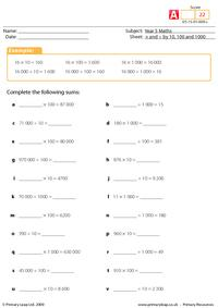Multiply & divide by 10, 100 and 1000