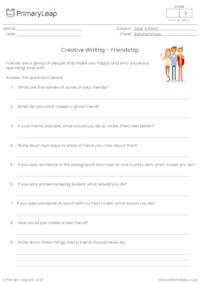 Creative writing - Friendship