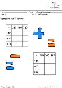 Plus and minus squares