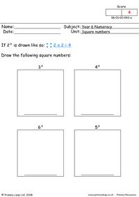 Square numbers 1
