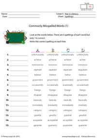 Commonly Misspelled Words (1)