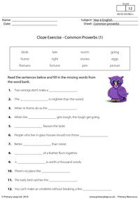 Cloze Exercise - Common Proverbs (1)