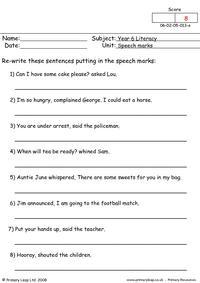 Speech marks 1