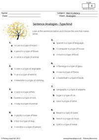 Sentence analogies - Type
