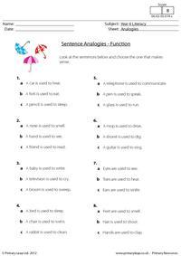 Sentence analogies - Function