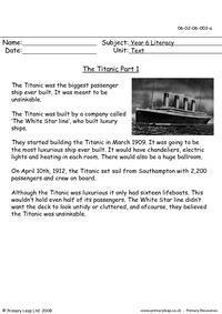 The Titanic part 1