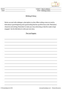 Writing a story - The lost puppies