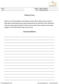 Writing a story - The angry neighbour