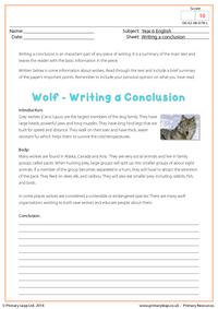 Writing a Conclusion - Wolf